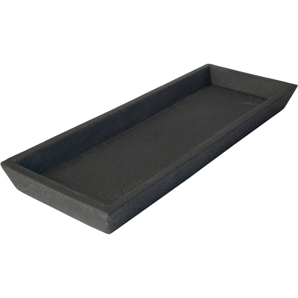 Zakkia Concrete Black Rectangular Tray