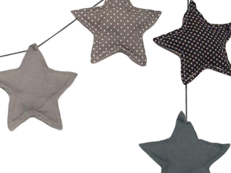 Numero 74 Padded Star Garland - Mix Blue | Immy and Indi