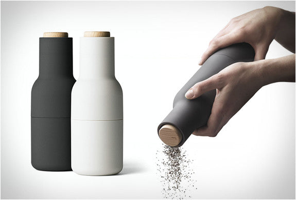 Menu Salt and Pepper Grinders - Carbon + Ash - Wood Top