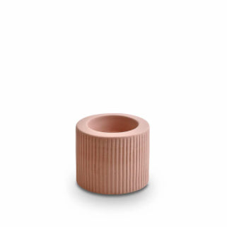 Ribbed Infinity Candle Holder | Ochre - Small