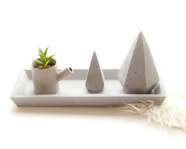 Zakkia Concrete Grey Rectangular Tray