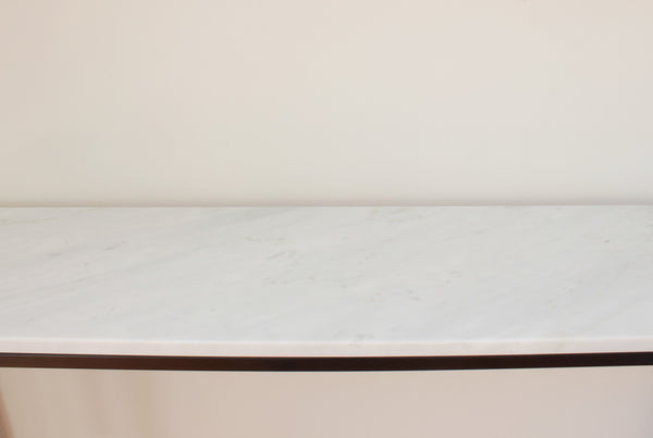 Carrara Marble Entrance Table - Light / White Carrara Marble Top