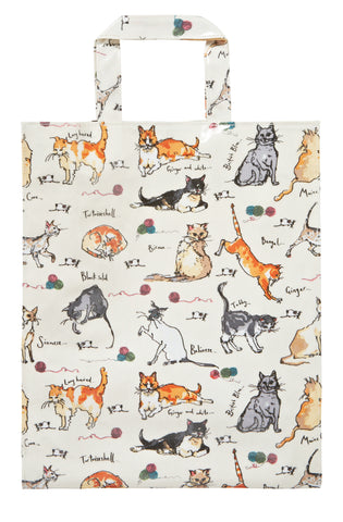 New! Madeleine Floyd PVC Cats Shopping Bag