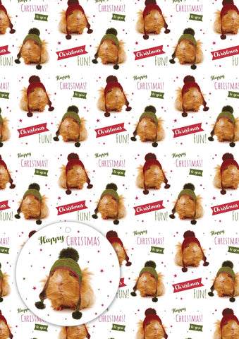 New! Giftwrap - Cosy Christmas Guinea