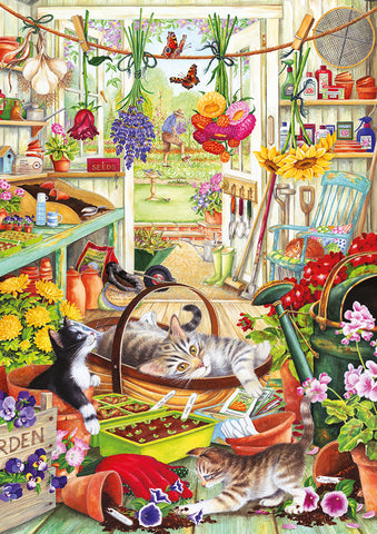 New! Jigsaw - Allotment Kittens - 500 Pieces