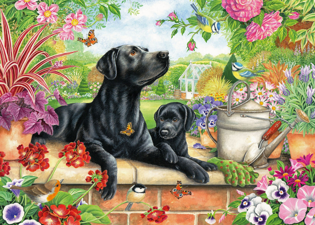 New! Jigsaw Black Labrador and Pup - 1000 Pieces