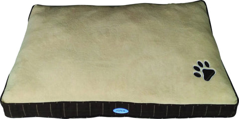 ISPCA Plush Pet Cushion Brown & Cream (Sm/Me/Lg)