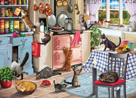 New! Jigsaw - Cats in the Kitchen - 1,000 Pieces