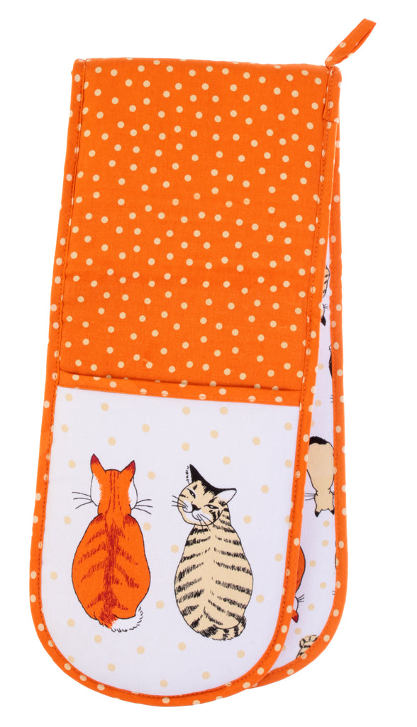 New! Cats in waiting Double Oven Gloves