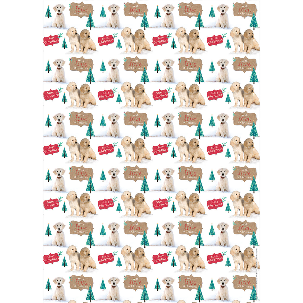NEW! Labradors in Snow Giftwrap