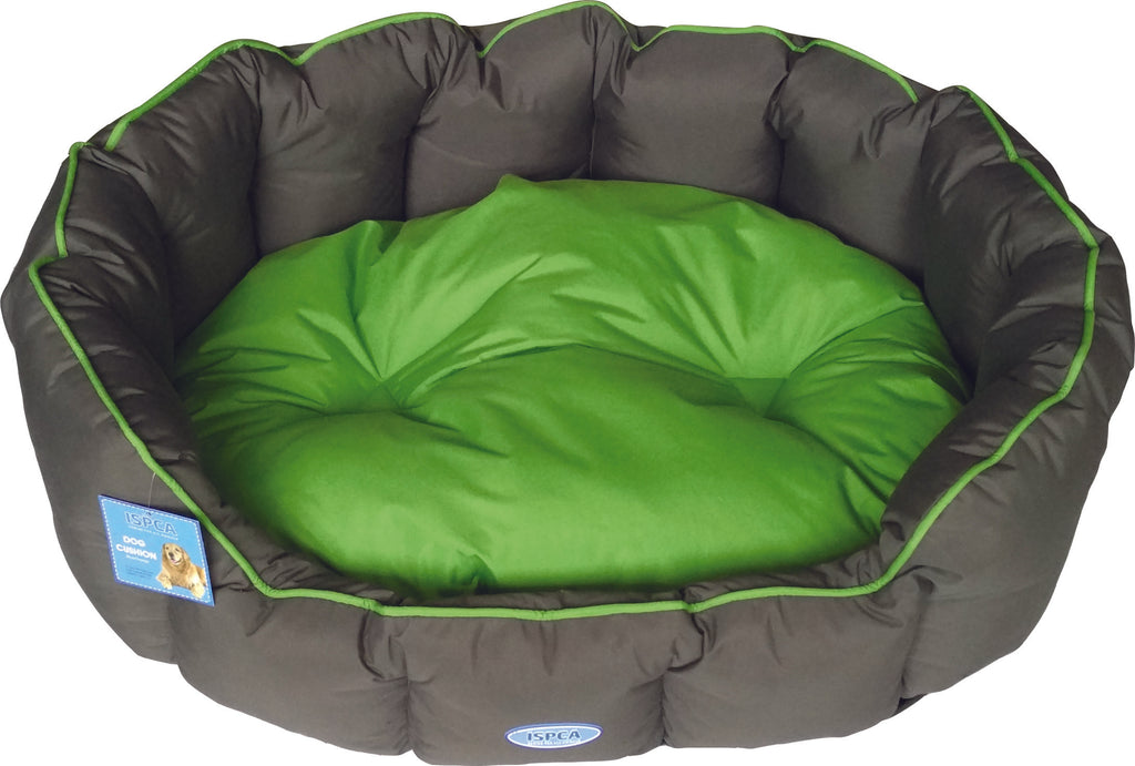 ISPCA Pet Bed - Grey/Green (4 sizes)