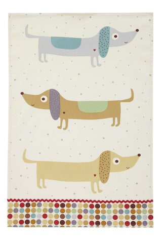 REDUCED! Hot Dog Tea Towel