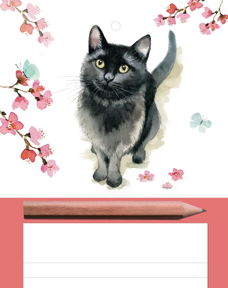 New! Magnetic Memo Pad - Cat