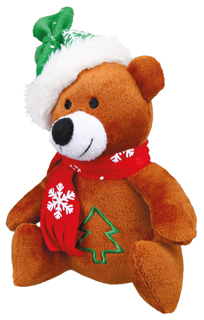 Plush Christmas Bear  Pet Toy