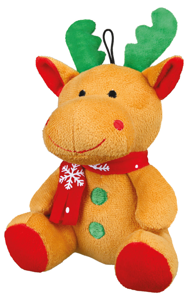 Plush Christmas Reindeer Pet Toy