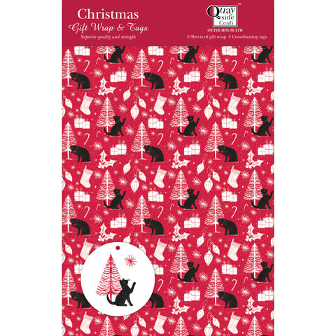New! Giftwrap - Christmas Cats