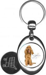 ISPCA Shopping Trolley Key Rings.