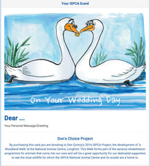 Don Conroy Wedding Card