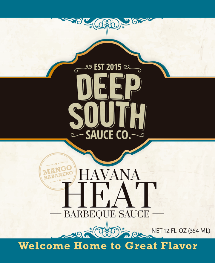 Havana Heat Barbecue Sauce 12oz Bottle