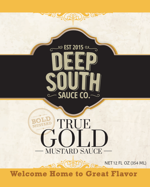 True Gold Mustard Sauce 12oz Bottle