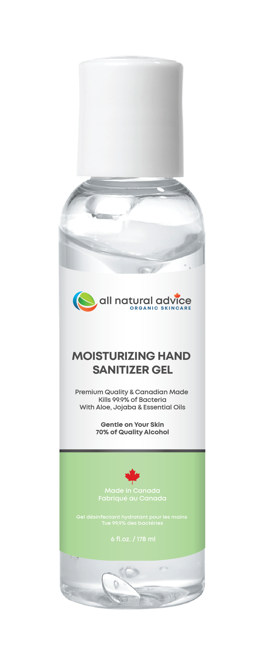 Advanced Hand Santizier - Kills 99.9% of Germs while Mositurzing Your Hands - 180 ml / 6 oz bottle
