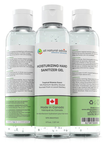 NEW!  PREMIUM MOISTURIZING  HAND SANITIZER Antiseptic with 70% Alcohol, Moisturizing your Hands with Aloe and Essential Oils - Made in Canada