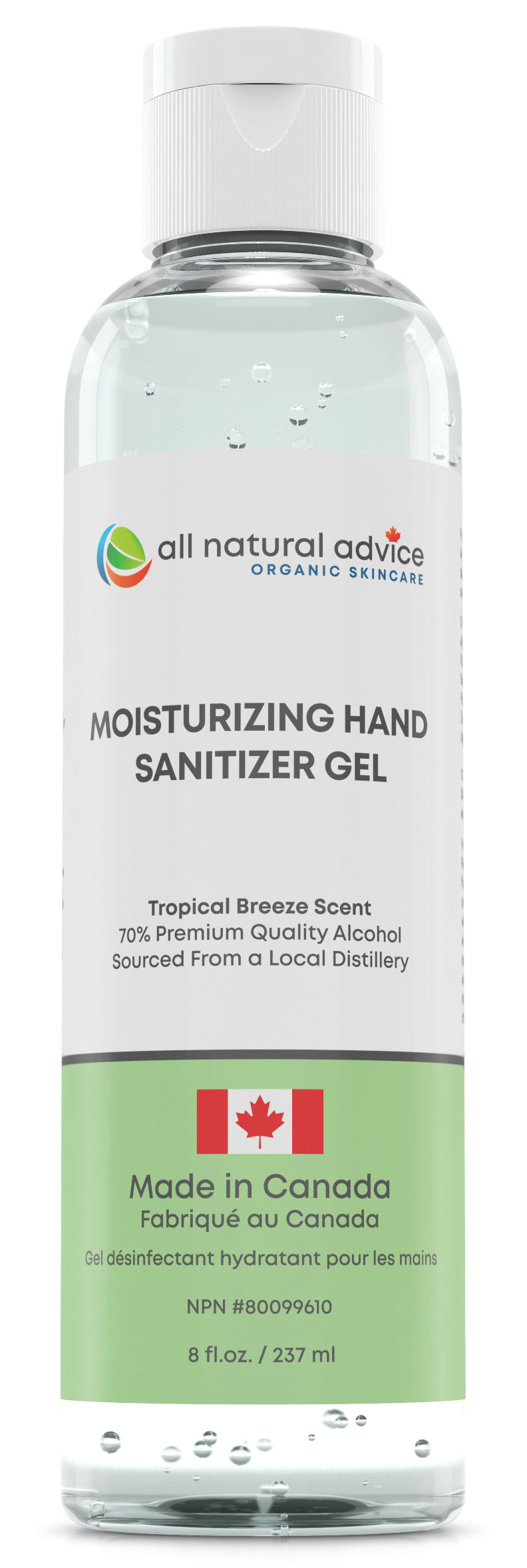 PACK of 3 x 8oz NEW!  PREMIUM MOISTURIZING  HAND SANITIZER Antiseptic with 70% Alcohol, Moisturizing your Hands with Aloe and Essential Oils - Made in Canada