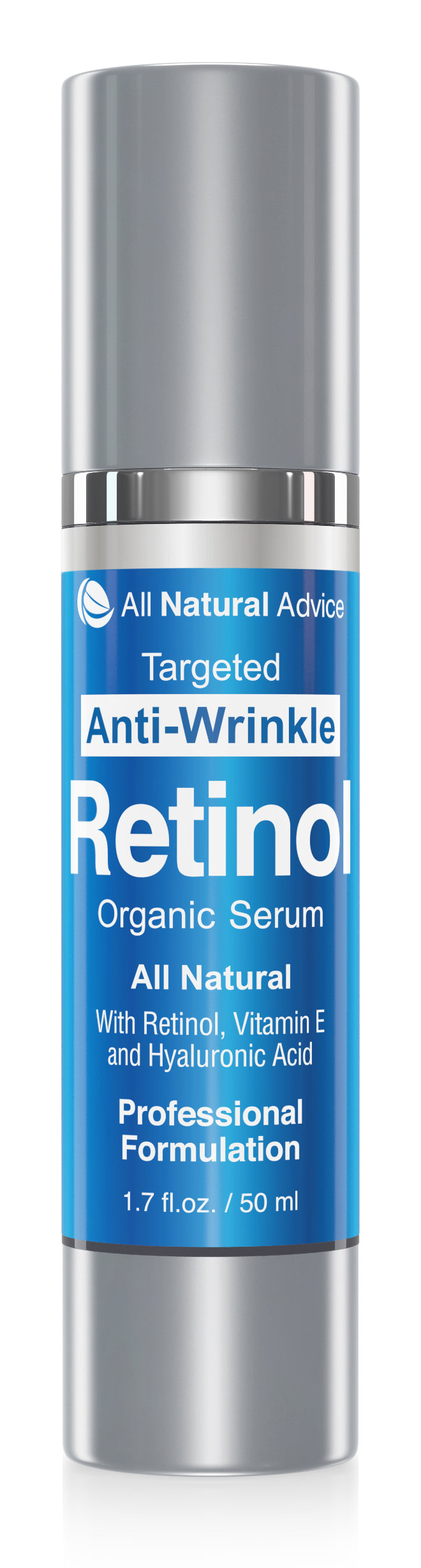 All Natural Advice  RETINOL SERUM with Hyaluronic Acid