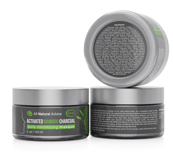 Organic Activated Charcoal Face Mask: Activated Charcoal Bamboo Face Mask