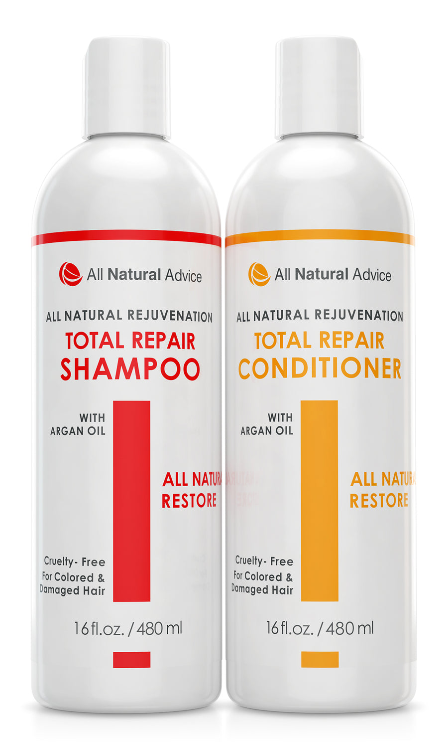 2 Pack - Organic Hair Restore & Repair Shampoo & Conditioner