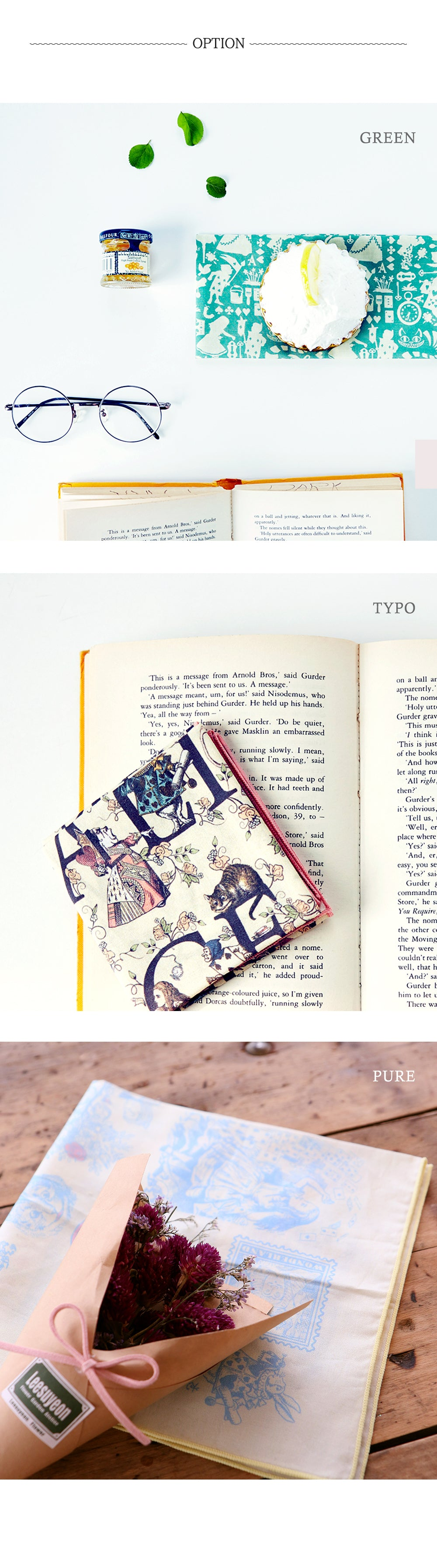 Story Hankie Alice in Wonderland - Typo