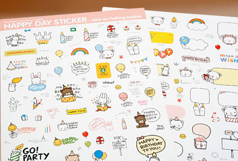 Sticker Set - Pony Brown - Happy Day
