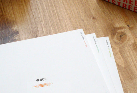 Notebook 601 - Voice - Orange