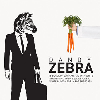 Wall Deco Vinyl - Dandy Zebra