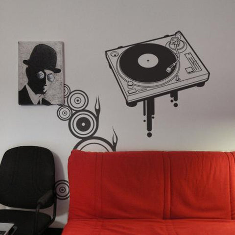 Wall Deco Vinyl - Turntable