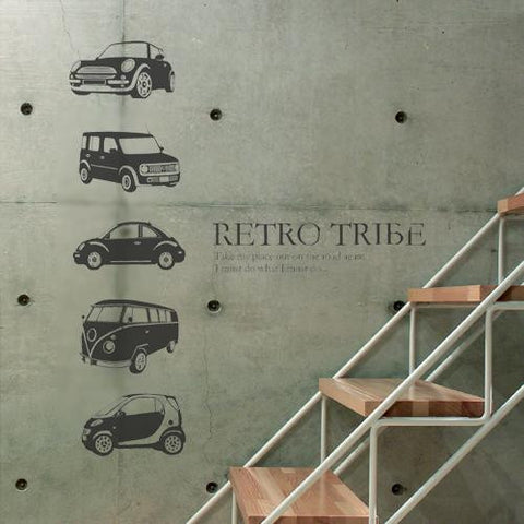 Wall Deco Vinyl - Retro Tribe Car