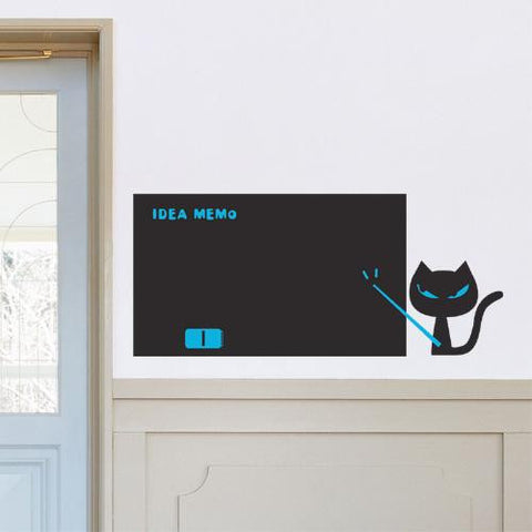 Wall Deco Vinyl - Blackboard Cat
