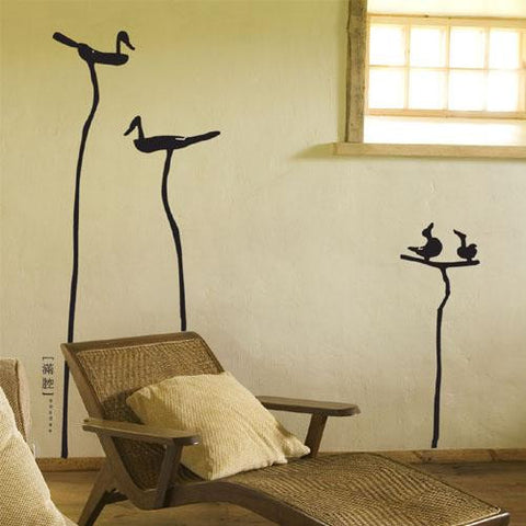 Wall Deco Vinyl - 4 Birds