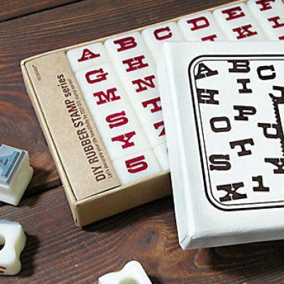 DIY Typographic Rubber Stamp - Duncan