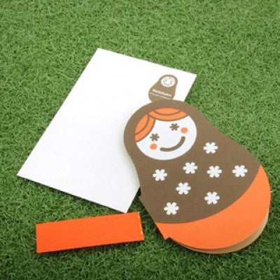 MATRYOSHKA Card - 03 -  Brown