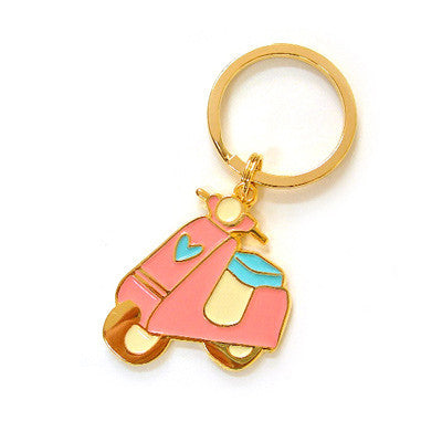 Key Holder Motorcycle Bike - Pink