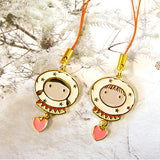 Couple Mobile Strap - Eskimo Love heart