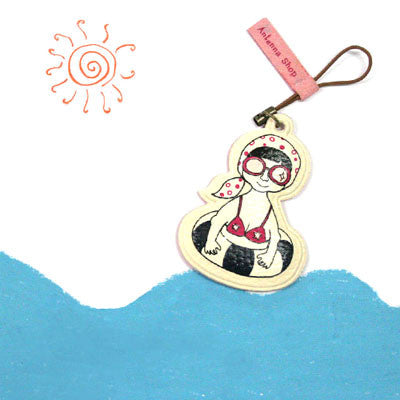 Mobile Cleaner Strap Cute Fellow - Beach Girl