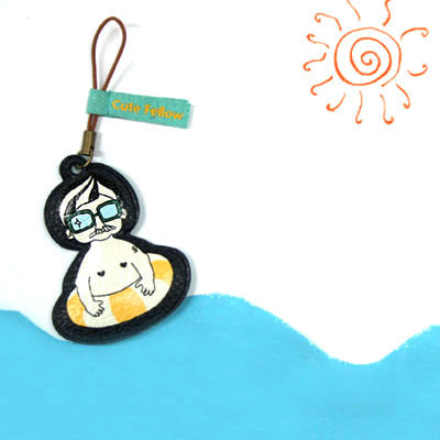 Mobile Cleaner Strap Cute Fellow - Beach Boy