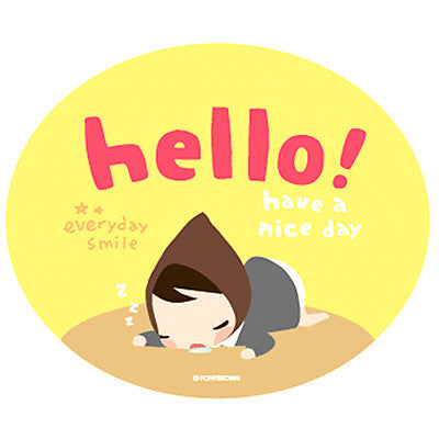 Pony Brown Big Sticker (2 Units) - Hello!