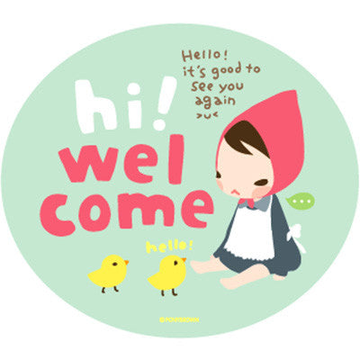 Pony Brown Big Sticker (2 Units) - Hi! Welcome
