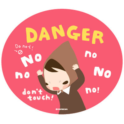 Pony Brown Big Sticker (2 Units) - Danger