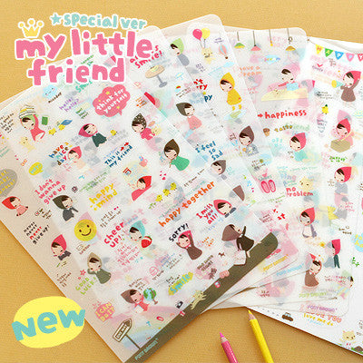 Sticker Set - Pony Brown - My Little Friend Special