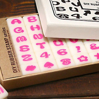 DIY Typographic Rubber Stamp - Fluf
