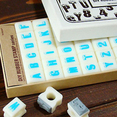 DIY Typographic Rubber Stamp - Igloolaser
